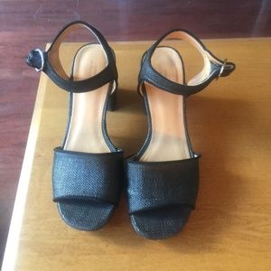 Urban Outfitters Black Ankle Platform 7